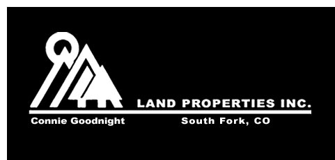 Land Properties, Inc logo, photo of San Juan Mountains, South Fork, Colorado